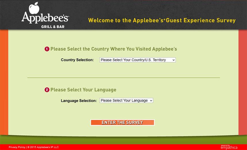 Applebee's-Survey