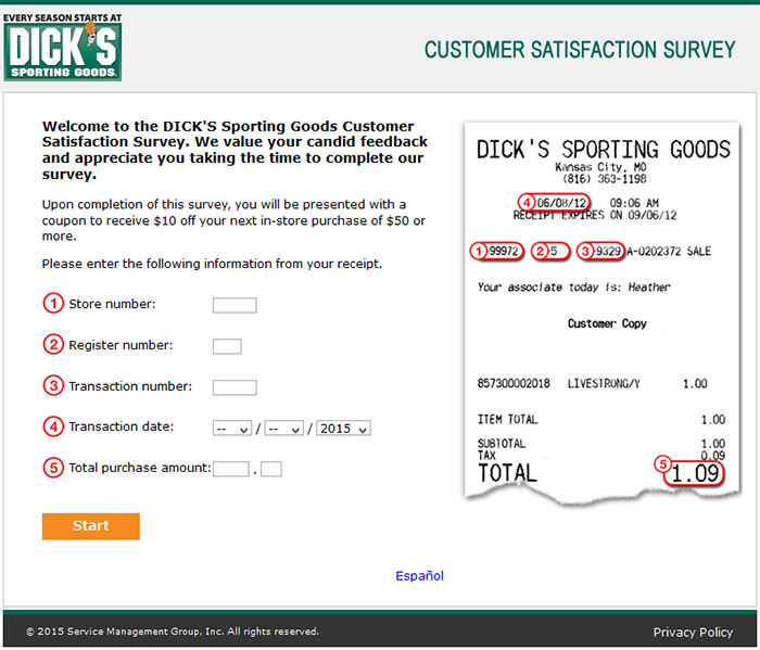 DICK'S-Sporting-Goods-Customer-Satisfaction-Survey