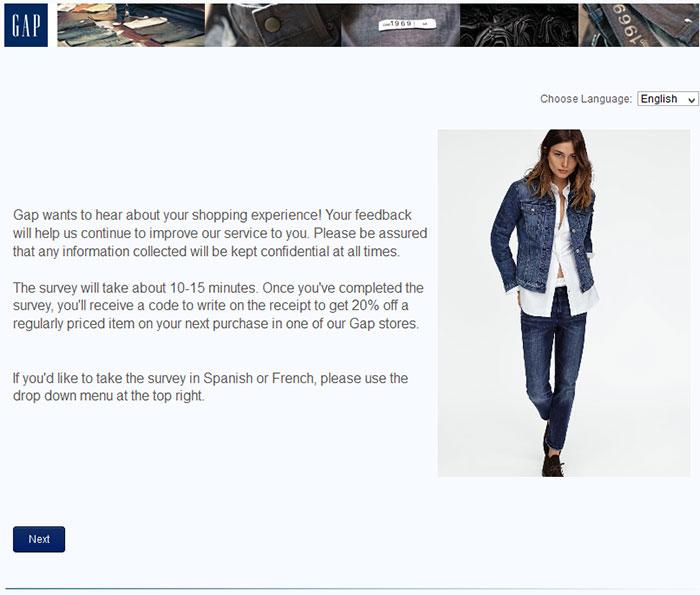 Gap-customer-experience-survey