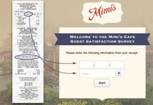 Mimi's Cafe Customer Satisfaction Survey
