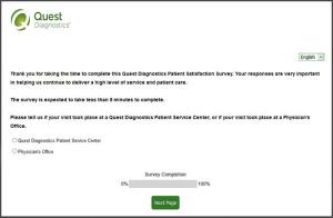 Quest Diagnostics Patient Satisfaction Survey
