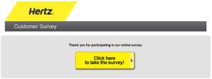 Hertz Customer Satisfaction Survey