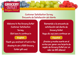 Grocery Outlet Customer Satisfaction Survey
