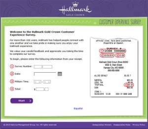 Hallmark Gold Crown Customer Experience Survey