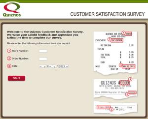 Quiznos Customer Satisfaction Survey