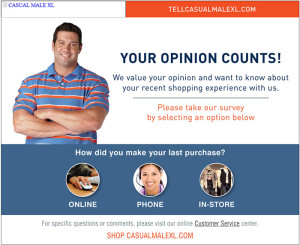Tell Casual Male XL Survey