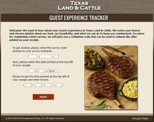 Texas Land & Cattle Guest Experience Survey