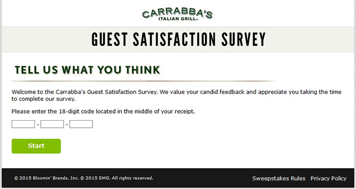 Carrabba's-Guest-Satisfaction-Survey
