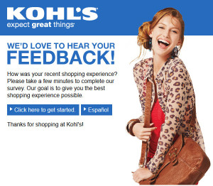 Kohl's In-Store Survey