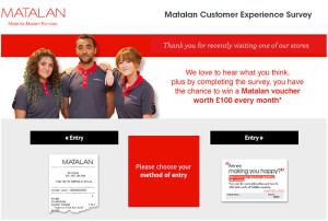 Matalan Customer Experience Survey