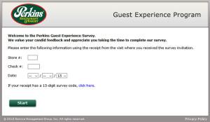 Perkins Guest Experience Survey