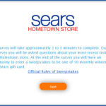 Sears appreciate you taking the time to complete the Sears Feedback Survey which should only take minutes. Just a few simple questions. The information you provide in this survey will help Sears better meet the needs and expectations of customers like yourself.