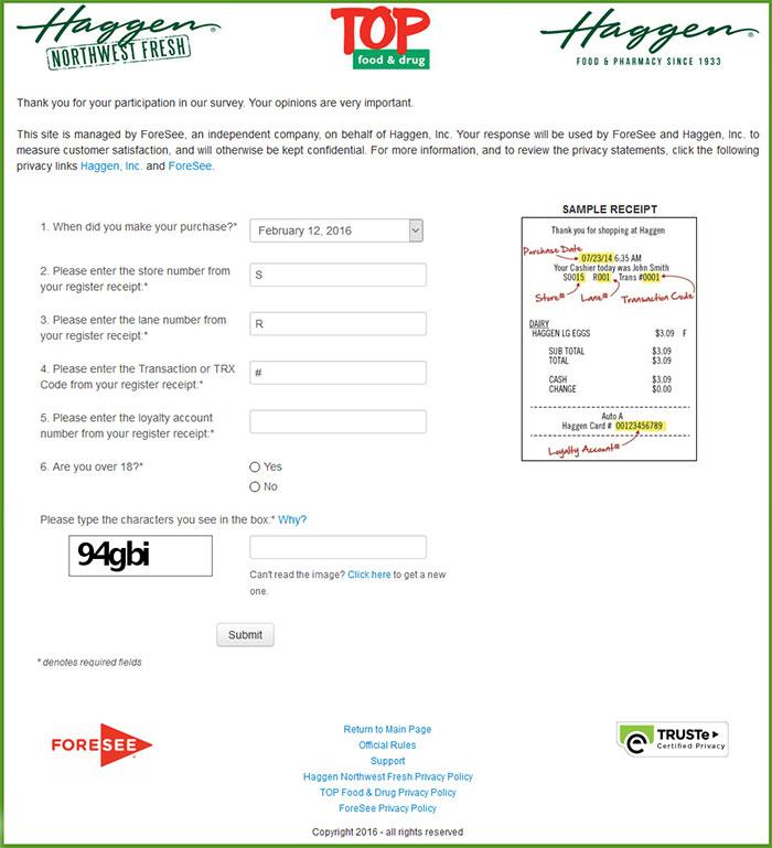 Haggen-Customer-Satisfaction-Survey