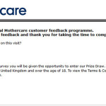 Mothercare Customer Feedback Survey