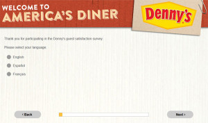 Denny's Guest Satisfaction Survey