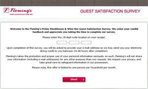 Fleming's Guest Satisfaction Survey