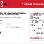 Quiznos Grill Customer Satisfaction Survey