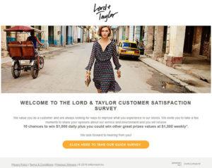 Lord & Taylor Customer Satisfaction Survey