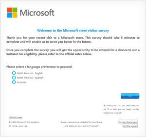 Microsoft Store Visitor Survey