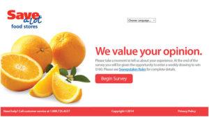 Save-A-Lot Customer Satisfaction Survey