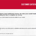 Sbarro Customer Satisfaction Survey