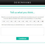 Debenhams Customer Experience Survey