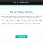 Debenhams Customer Experience Survey