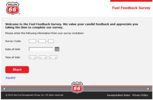 Phillips 66 Fuel Feedback Survey