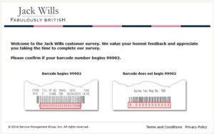 Jack Wills Customer Survey