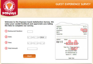 Popeyes Canada Guest Satisfaction Survey
