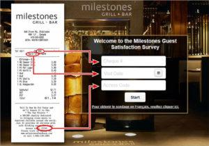 Milestones Guest Satisfaction Survey