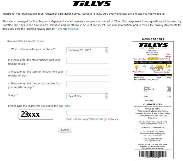 Tillys-Survey