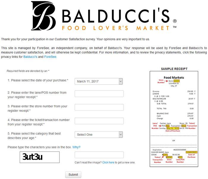 Balducci's-Survey