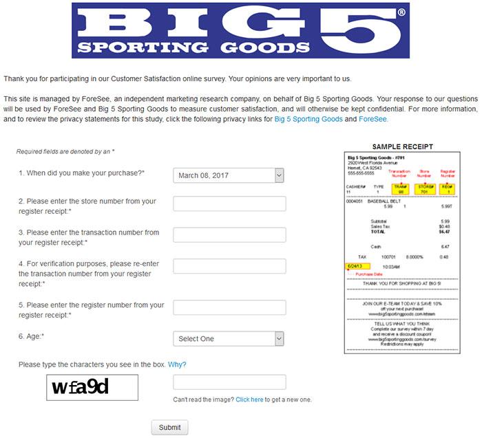 Big-5-Sporting-Goods-Survey