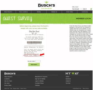 Busch's Guest Feedback Survey