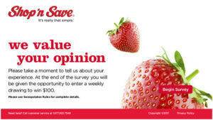 Shop 'n Save Customer Satisfaction Survey
