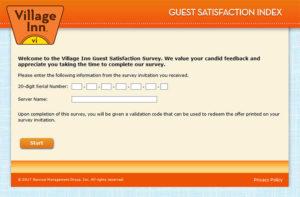Village Inn Guest Satisfaction Survey