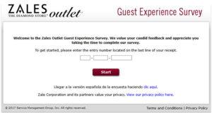 Zales Outlet Guest Experience Survey