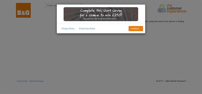 B&Q-Store-Experience-Survey