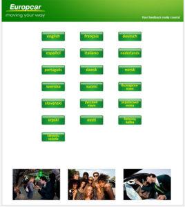 Europcar Customer Feedback Survey