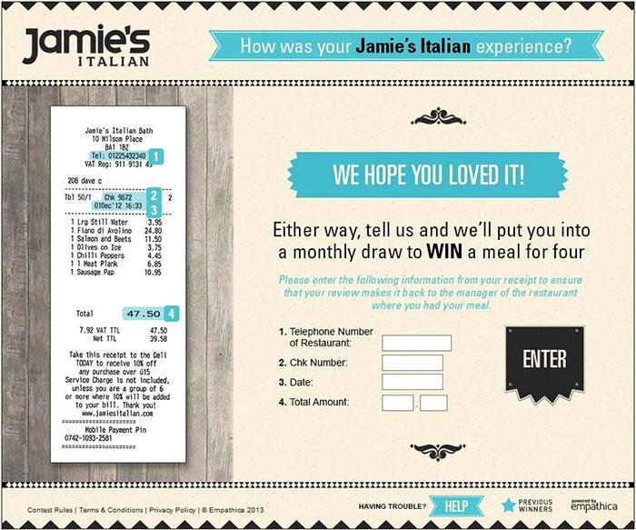 Jamies-Italian-Customer-Feedback-Survey