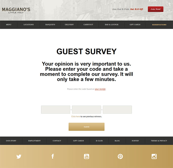 Maggiano's-Guest-Experience-Survey