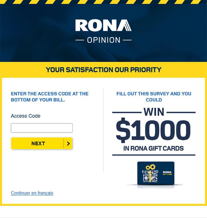 RONA-Customer-Satisfaction-Survey