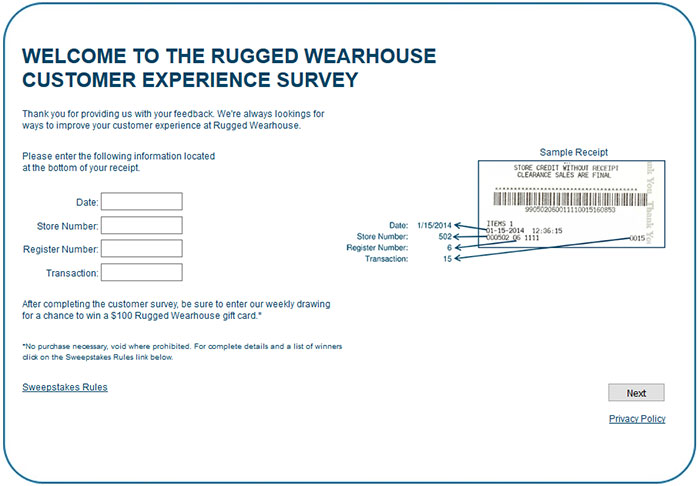 Rugged-Wearhouse-Customer-Experience-Survey