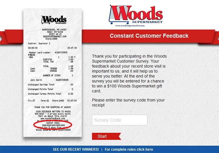 Woods-Supermarket-Constant-Customer-Feedback-Survey