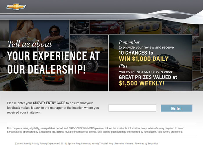 com chevrolet dealership customer satisfaction survey. Cars Review. Best American Auto & Cars Review