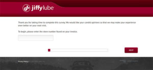 Jiffy Lube Customer Survey