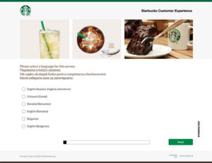 Tell Starbucks Customer Survey