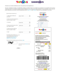 "Toys""R""Us / Babies""R""Us Canada Customer Satisfaction Survey"