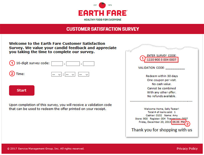 Www.Earthfarelistens.Com - Earth Fare Customer Satisfaction Survey